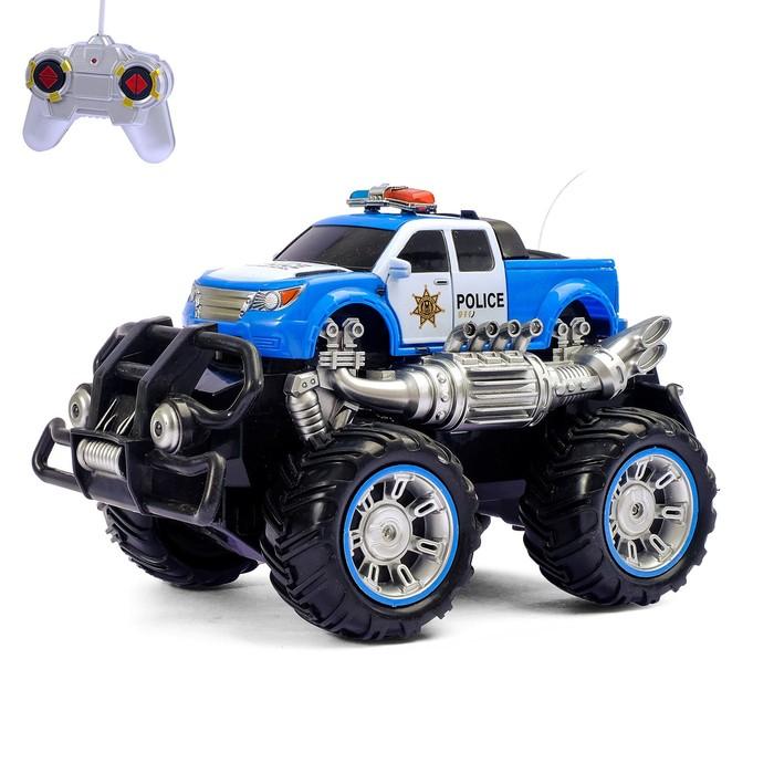 Машина радиоуправляемая «Полицейский пикап», с аккумулятором, световые эффекты, цвета МИКС