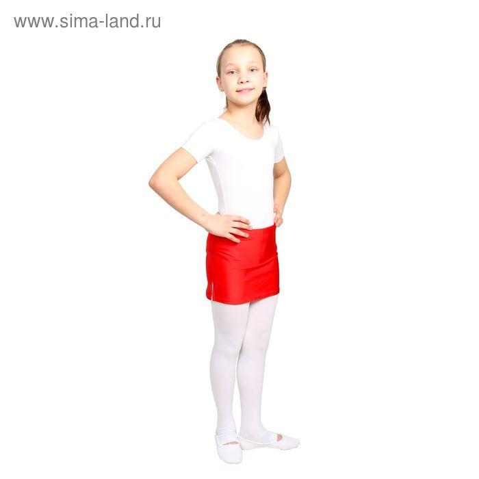 Юбка для тренировок с трусами, размер 38, цвет красный
