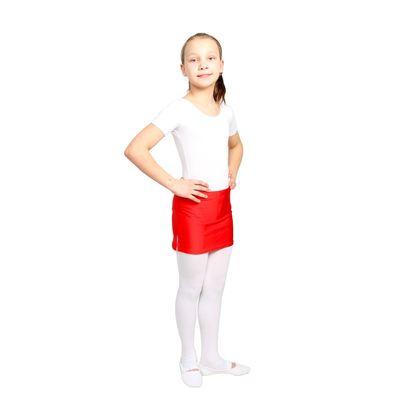 Юбка для тренировок с трусами, размер 34, цвет красный