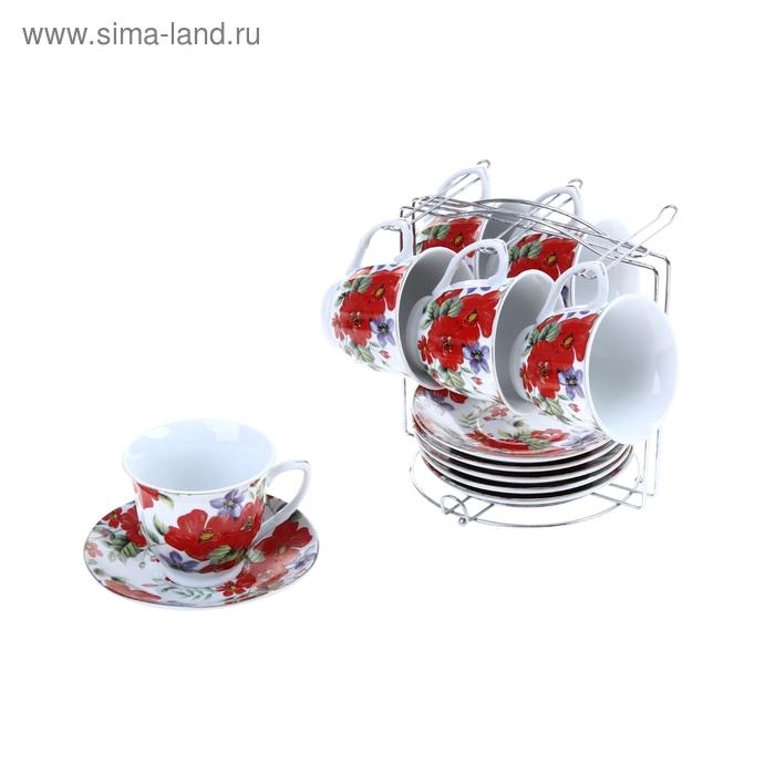 """Сервиз чайный """"Памела"""", 12 предметов: 6 чашек 200 мл, 6 блюдец"""