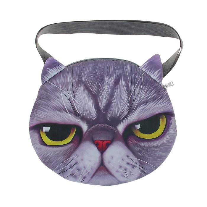 Мягкая сумка «Котик серый»