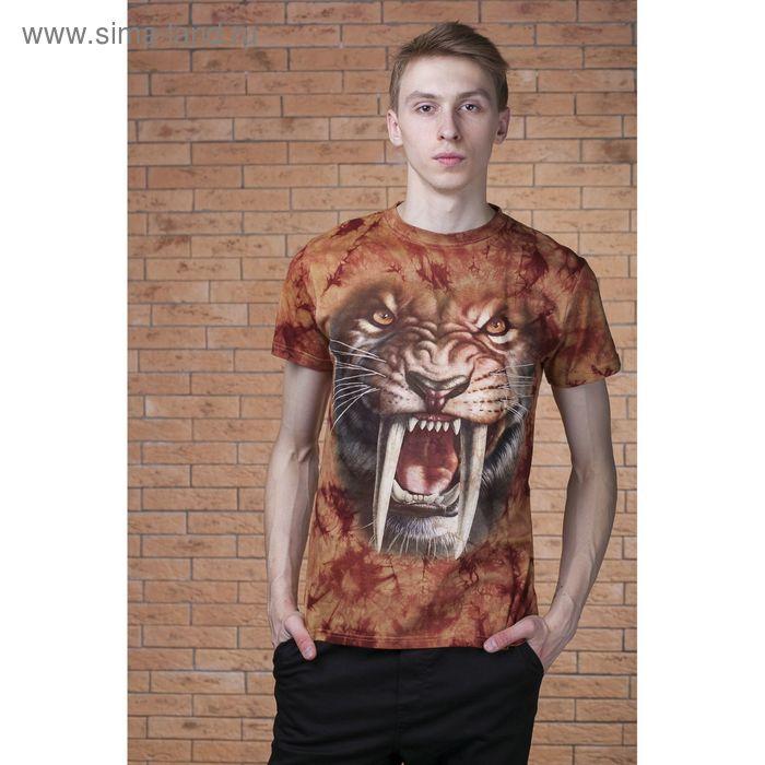 Футболка мужская Collorista 3D Wild tiger, размер XXL (52), цвет коричневый