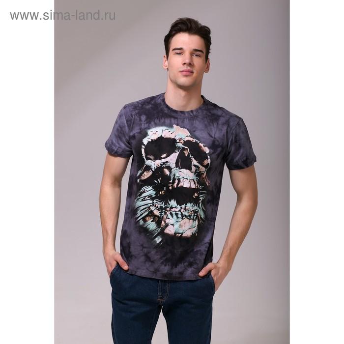 Футболка мужская Collorista 3D Skull, размер M (46), цвет серый