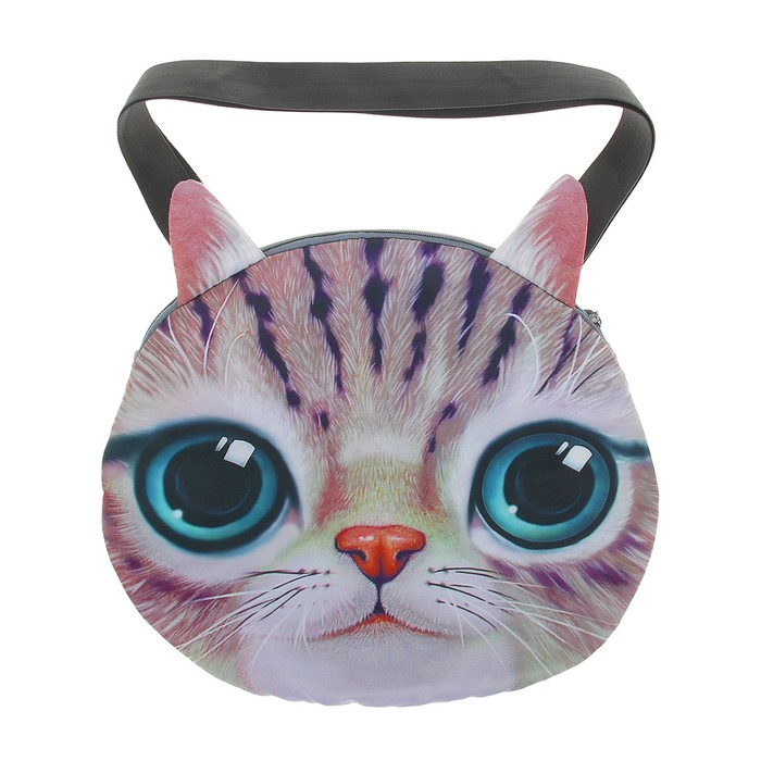 Мягкая сумка «Котик серенький»