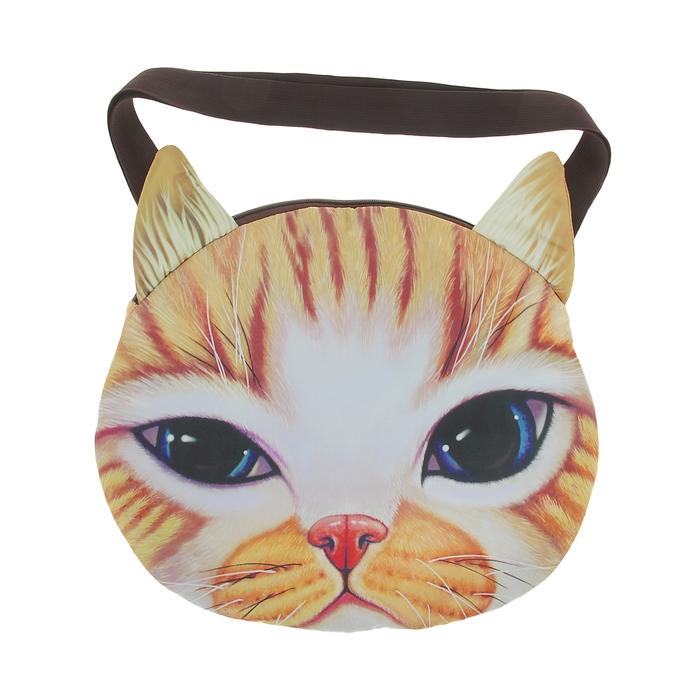 Мягкая сумка «Котик рыжий в полоску»