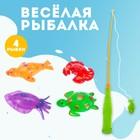 "Game ""Funny fishing"", fishing rod, 4 fishies"