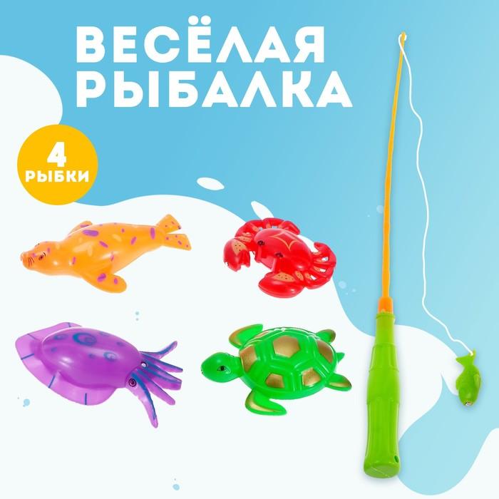 """Игра """"Весёлая рыбалка"""", удочка, 4 рыбки"""