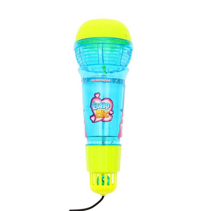 """Микрофон детский """"Веселись и пой"""", 3D, световые эффекты, МИКС"""