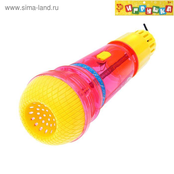 """Микрофон """"Супер звезда"""", световые эффекты, работает от батареек, МИКС"""