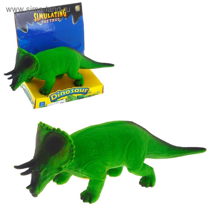 """Динозавр """"Трицератопс"""", звуковые эффекты, работает от батареек"""
