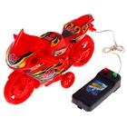 """Мотоцикл """"Спортбайк"""", на дистанционном управлении, работает от батареек, цвета МИКС"""