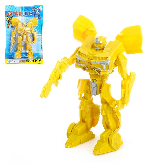 Робот «Супергерой», световые эффекты, МИКС - фото 106534050