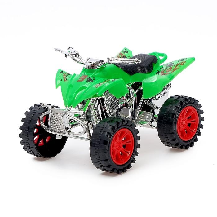 Мотоцикл инерционный «Квадрик», цвета МИКС