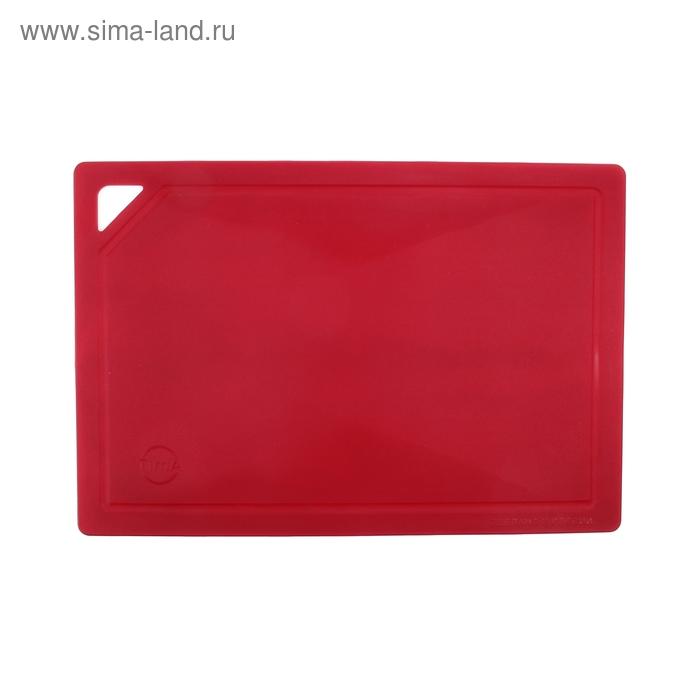 Доска разделочная гибкая 32х22 см, цвет красный