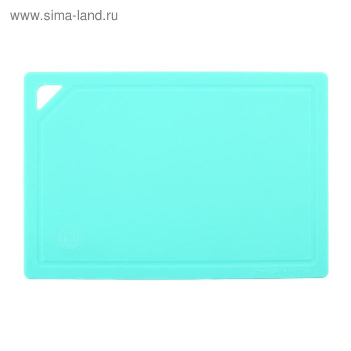 Доска разделочная гибкая 32х22 см, цвет бирюза