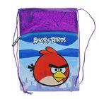 Мешок для обуви Angry birds сиреневый 43*37см