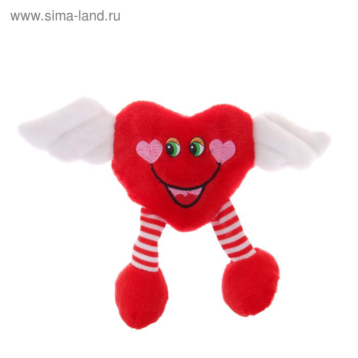 """Мягкая игрушка-присоска """"Сердце с крылышками"""" ножки болтаются"""