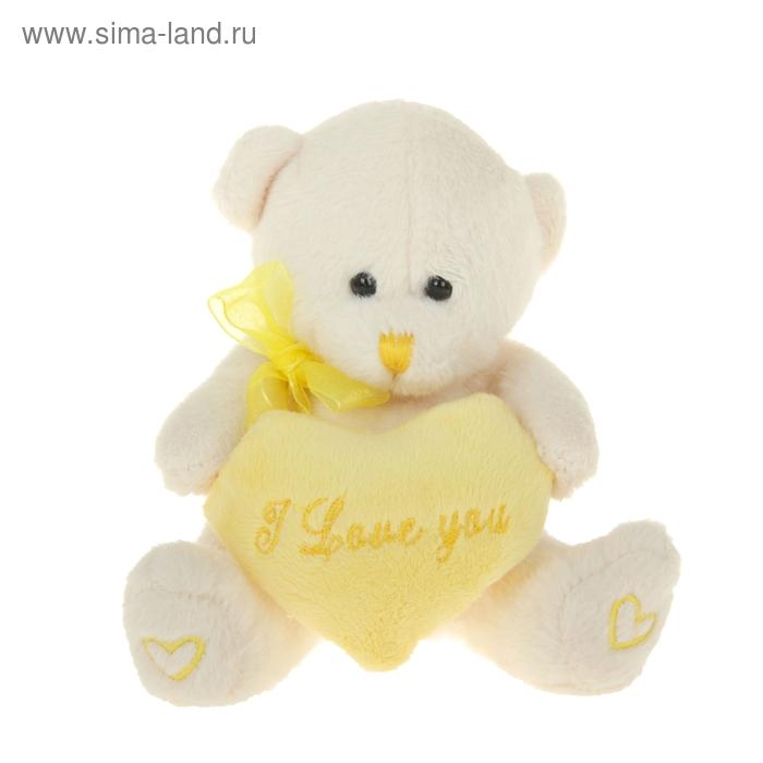 """Мягкая игрушка """"Мишутка с сердцем"""", на лапах сердечки"""