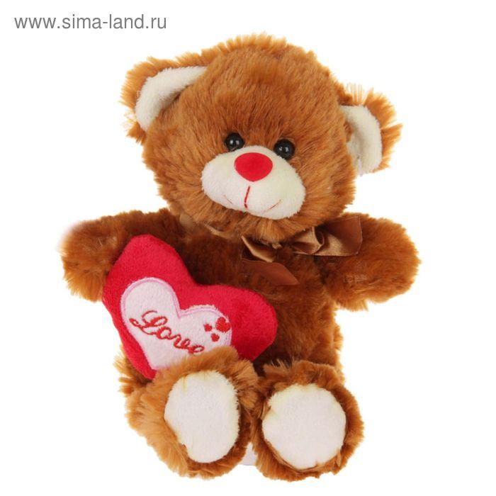 """Мягкая игрушка """"Мишка"""", на боку сердце, цвета МИКС"""