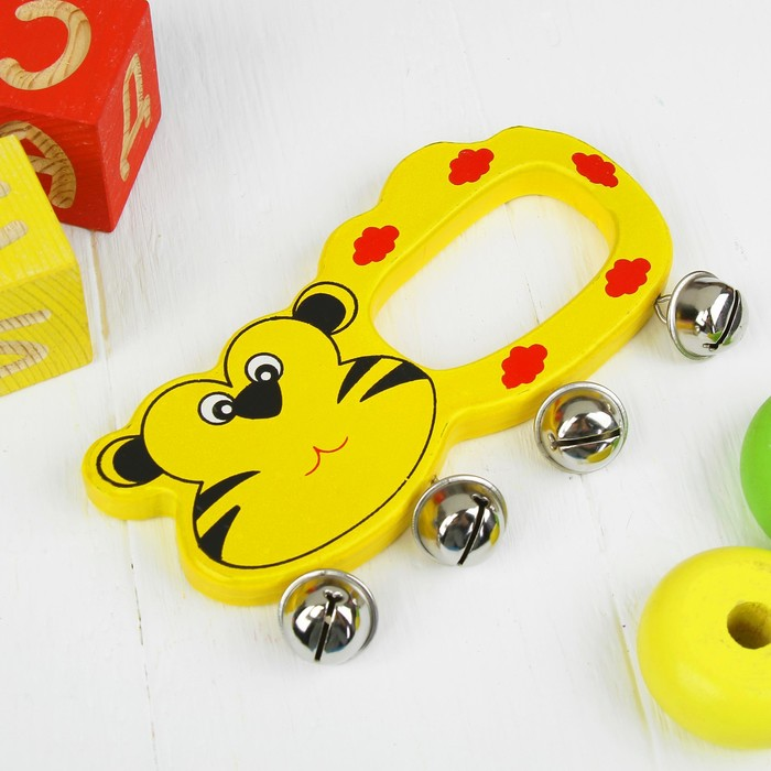 Игрушка музыкальная погремушка «Весёлый зоопарк», МИКС - фото 105637941