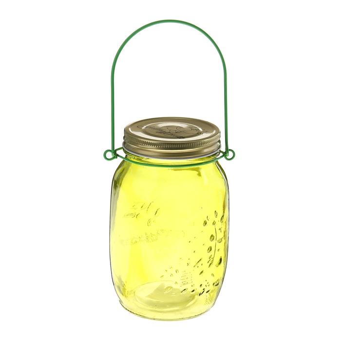 """Банка для сыпучих продуктов 920 мл """"Калейдоскоп"""" с подвесом (12 см), цвет жёлтый"""