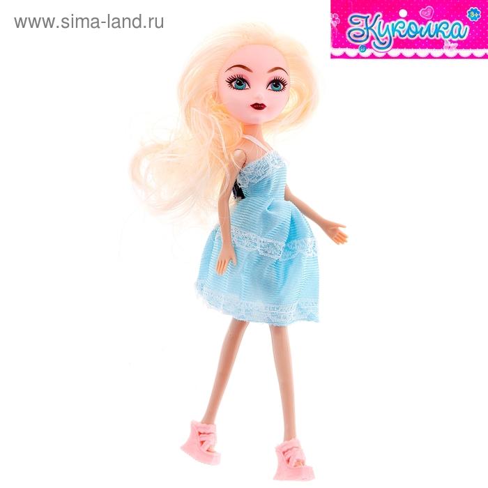 """Кукла модная """"Полли"""" в голубом платье"""