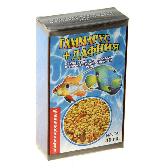 """Корм для рыб """"Комбинированный"""", коробочка 40 гр"""