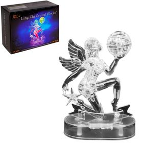 "3D crystal puzzle, ""the zodiac Sign Virgo"", 38 details, lighting effects, runs on batteries"