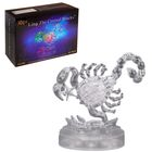 """3D пазл кристаллический """"Знак зодиака: Скорпион"""", 43 детали, световые эффекты, работает от батареек"""