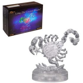 3D пазл кристаллический «Знак зодиака: Скорпион», 43 детали, световые эффекты, работает от батареек