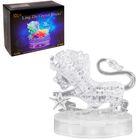 """Пазл 3D кристаллический, """"Знак зодиака Лев"""", 42 детали, световые эффекты, работает от батареек"""