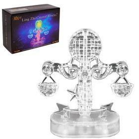 Пазл 3D кристаллический, «Знак зодиака Весы» ,42 детали, световые эффекты, работает от батареек