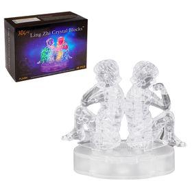 Пазл 3D кристаллический, «Знак зодиака Близнецы», 48 деталей, световые эффекты, работает от батареек