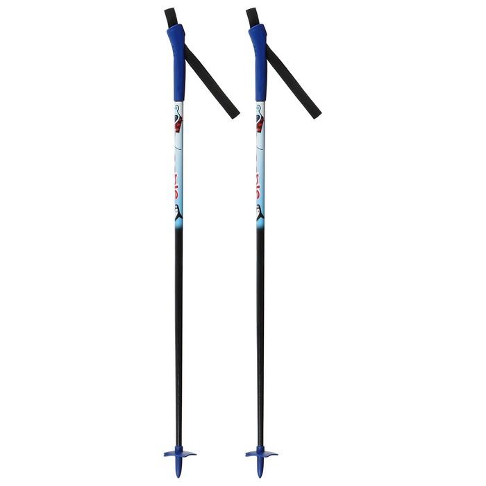 Палки лыжные стеклопластиковые TREK Classic (130 см), цвета микс