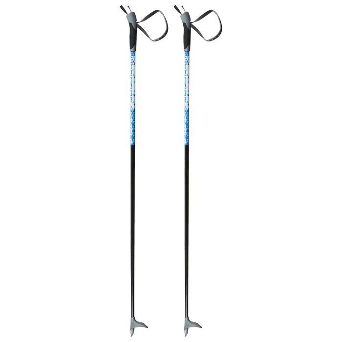 Палки лыжные стеклопластиковые TREK Classic (115 см), цвета микс