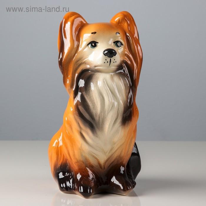 """Копилка """"Собака Джессика"""" глянец, коричневая, микс"""