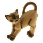 "Копилка ""Кот Ричард"" флок, коричневая"