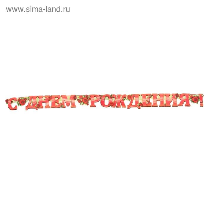 """Гирлянда """"С Днем рождения!"""" розы  240 см"""