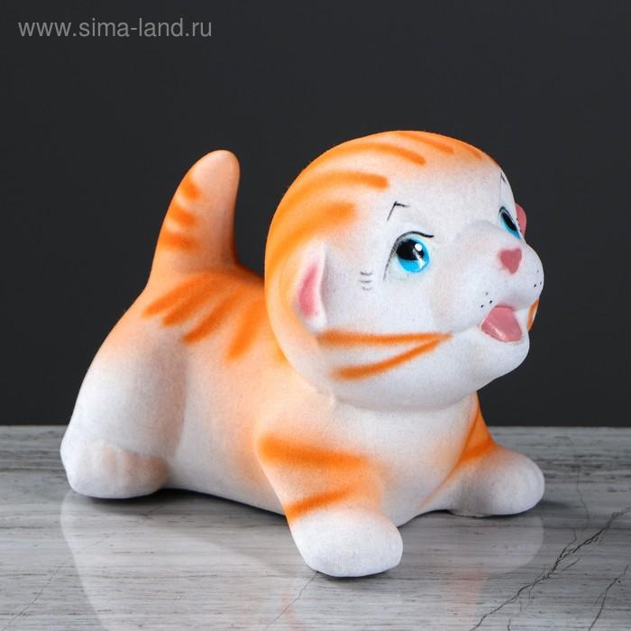 """Копилка """"Котик Максик"""" флок, рыжая"""