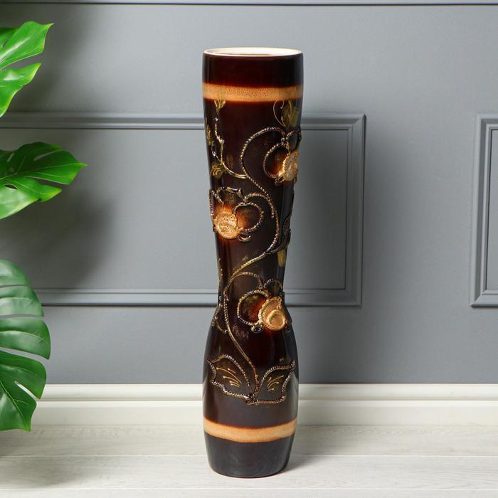 """Ваза напольная """"Афина"""" глазурь, 71 см, микс, керамика - фото 878689"""