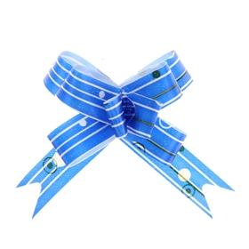"Bow-tie №1,2 ""raindrops"", color blue"