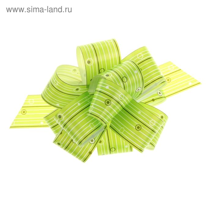 """Бант-шар №3 """"Капли дождя"""", цвет зелёный"""