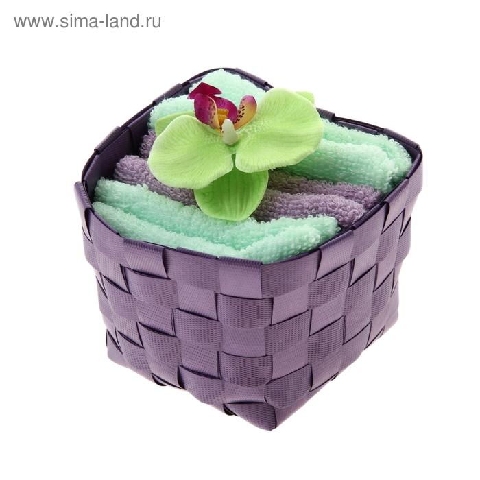 "Набор полотенец ""Collorista"" Orchid green-lilac 30 х 30см - 3 шт."