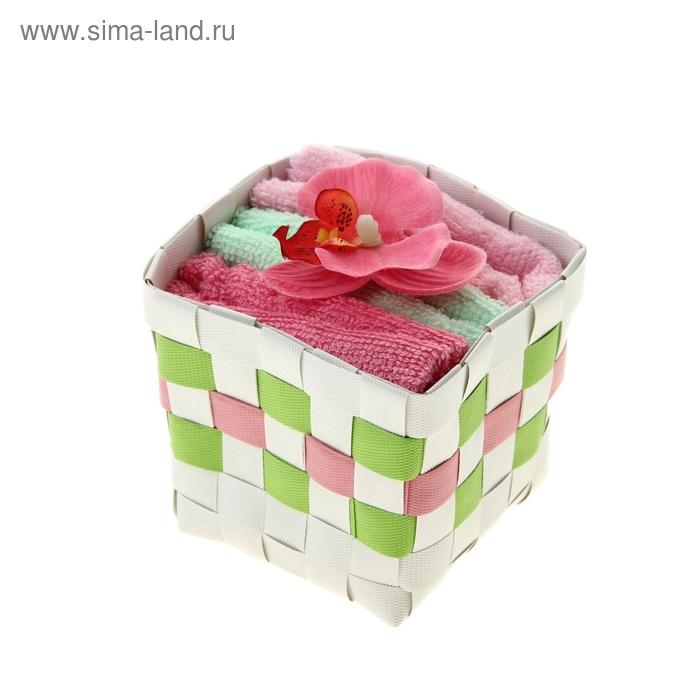 "Набор полотенец ""Collorista"" Lily pink 30 х 30см - 3 шт."