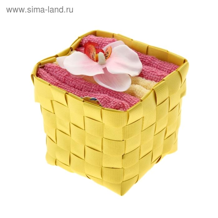 "Набор полотенец ""Collorista"" Orchid white- pink 30 х 30см - 3 шт."
