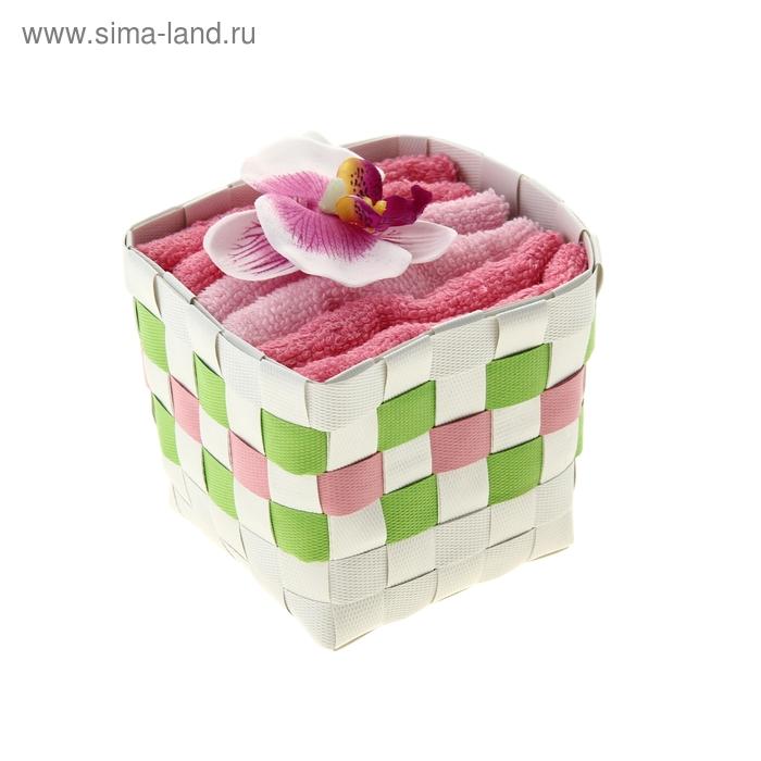 "Набор полотенец ""Collorista"" Orchid white-lilac 30 х 30см - 3 шт."