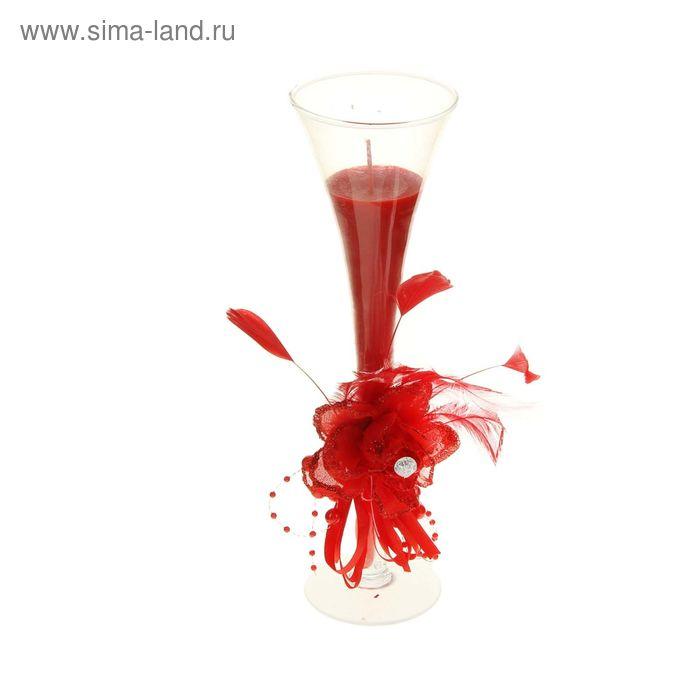 """Свеча восковая """"Роза страсти"""", цвет красный"""
