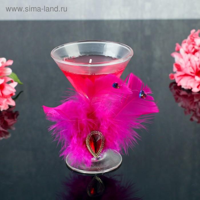 "Свеча гелевая ""Перо"", цвет розовый"