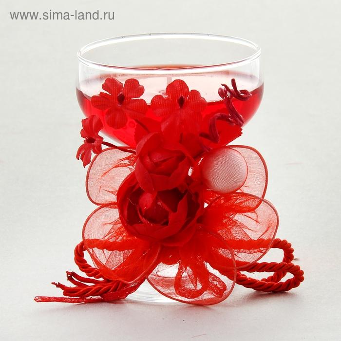 """Свеча гелевая """"Роскошная роза"""", цвет красный"""