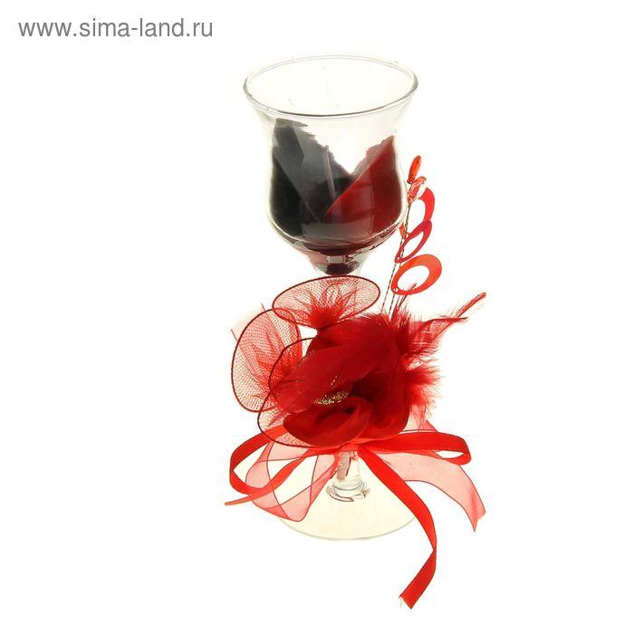 """Свеча восковая """"Двойное сочетание"""", цвет кофейно-бордовый"""